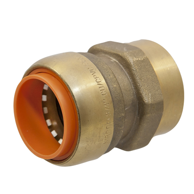 """3/4"""" Push-to-Connect x FNPT Lead-Free Brass Adapter"""