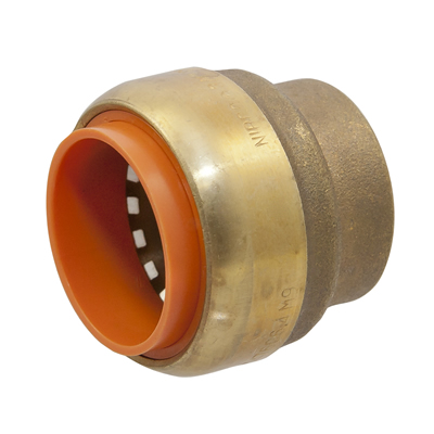 "1"" Push-to-Connect Lead-Free Brass Push Cap"