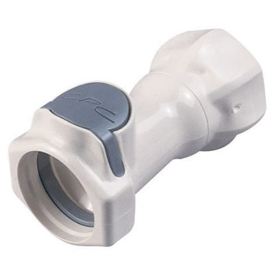 "3/4"" FGHT HFC 35 Series Polysulfone Coupling Body - Shutoff"