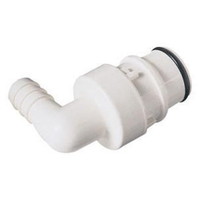 "1/2"" Hose Barb HFC 35 Series Polysulfone Elbow Coupling Insert - Straight Thru"