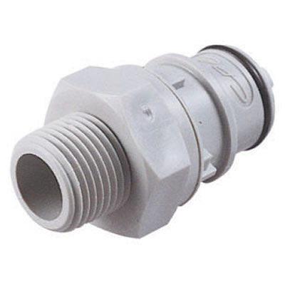 "1/2"" NPT HFC 12 Series Polypropylene Coupling Insert - Straight Thru"