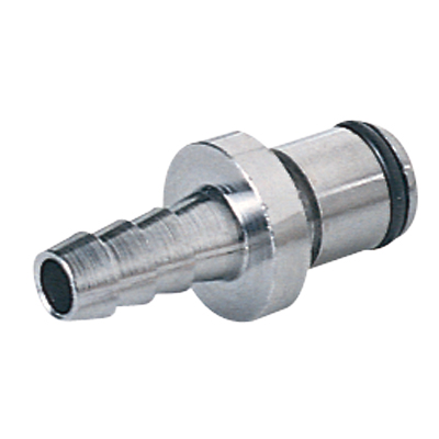 """3/8"""" In-Line Hose Barb LC Series Chrome Plated Brass Insert - Straight Thru"""