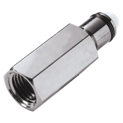 "1/4"" FNPT In-Line LC Series Chrome Plated Brass Insert - Shutoff (Body Sold Separately)"