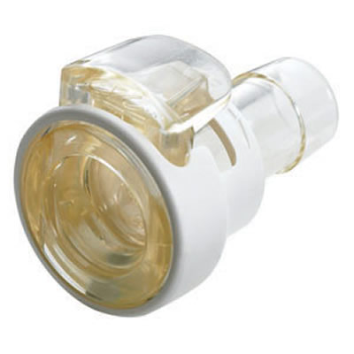 "1/4"" In-Line Hose Barb MPC Series Polysulfone Coupling Body w/Lock (Insert Sold Separately)"