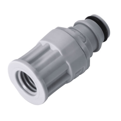 """1/8"""" OD In-line with a 1/4-28 Flat Bottom Port NS1 Series PP Coupling Insert"""