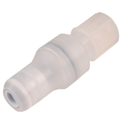 "3/8"" Flare Compression CQG Series Polypropylene In-Line Coupling Insert - Shutoff (Body Sold Separately)"