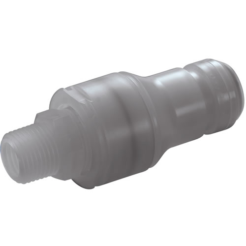 "3/4"" MNPT CQG Series Polypropylene In-Line Coupling Insert - Shutoff (Body Sold Separately)"