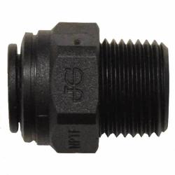 """1/4"""" Tube OD x 1/8"""" MNPTF Black Polypropylene Connector"""