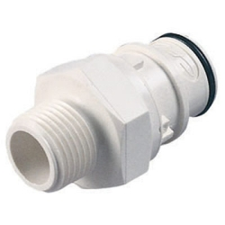 "1/2"" NPT HFC 35 Series Polysulfone Coupling Insert - Straight Thru (Body Sold Separately)"
