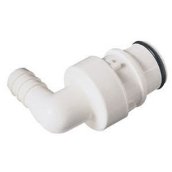 "3/8"" Hose Barb HFC 35 Series Polysulfone Elbow Coupling Insert - Shutoff (Body Sold Separately)"
