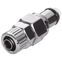 "3/8"" In-Line Ferruleless LC Series Chrome Plated Brass Insert - Shutoff"