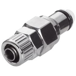 "3/8"" In-Line Ferruleless LC Series Chrome Plated Brass Insert - Shutoff"