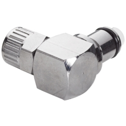 "1/4"" Ferruleless LC Series Chrome Plated Brass Elbow Insert - Shutoff"