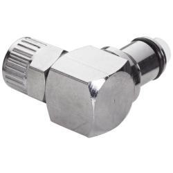 "1/4"" Ferruleless LC Series Chrome Plated Brass Elbow Insert - Shutoff"