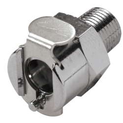 "1/8"" NPT In-Line MC Series Chrome Plated Brass Body - Straight Thru (Insert Sold Separately)"