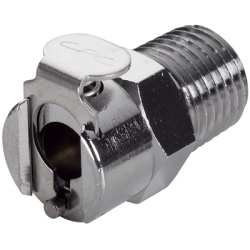 "1/4"" NPT In-Line MC Series Chrome Plated Brass Body - Shutoff (Insert Sold Separately)"