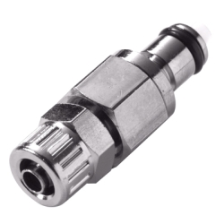 "3/8"" In-Line Ferruleless MC Series Chrome Plated Brass Insert - Shutoff (Body Sold Separately)"