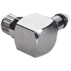 "1/4"" Ferruleless MC Series Chrome Plated Brass Elbow Insert - Shutoff (Body Sold Separately)"
