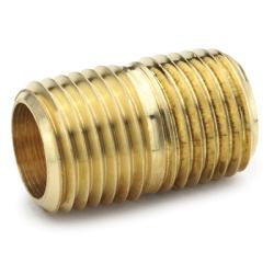 """1/8"""" MPT Brass Close Nipple"""