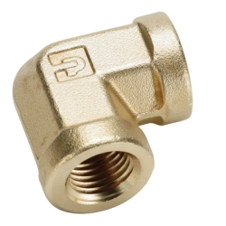 "1/8""FPT Brass 90° Union Elbow"