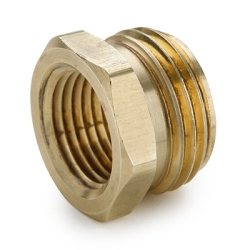"3/4"" MGHT x  3/8"" FPT Brass Garden Hose Fitting"