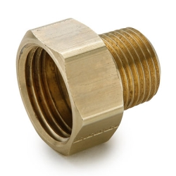 "3/4"" FGHT x 1/2"" MPT Brass Garden Hose Fitting"