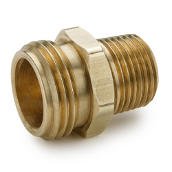 "3/4"" MGHT x 1/2"" MPT Brass Garden Hose Fitting"