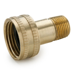 "3/4"" FGHT x 3/8"" MPT Swivel Connector Brass Garden Hose Fitting"
