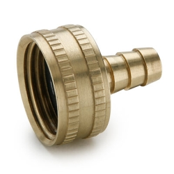 "3/4"" FGHT x 1/2"" Hose Barb Brass Garden Hose Fitting"