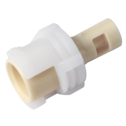 "1/16"" Hose Barb Acetal In-Line Coupling Body - Shutoff (Insert Sold Separately)"