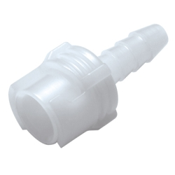 "1/8"" Hose Barb Acetal In-Line Coupling Body - Shutoff (Insert Sold Separately)"