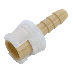 "1/8"" Hose Barb Polypropylene In-Line Coupling Body - Straight Thru (Insert Sold Separately)"