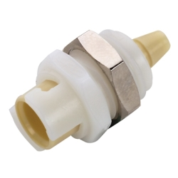 "1/16"" Hose Barb Polypropylene Panel Mount Coupling Body - Straight Thru (Insert Sold Separately)"