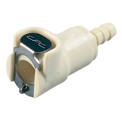 "1/4"" Hose Barb Polypropylene Puncture Seal Coupling Body - Straight Thru (Insert Sold Separately)"