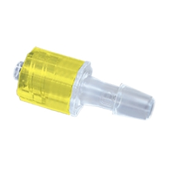 "1/4"" Hose Barb Male Rotating Lock & Nut Assemblies - Yellow"