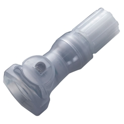 "1/4"" Flare Compression CQH Series Polypropylene In-Line Coupling Body - Shutoff (Insert Sold Separately)"