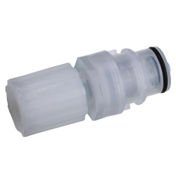 "3/8"" Flare Compression CQH Series Polypropylene In-Line Coupling Insert - Shutoff (Body Sold Separately)"