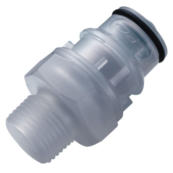 "3/8"" MNPT CQH Series Polypropylene In-Line Coupling Insert - Shutoff (Body Sold Separately)"