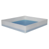 """2-1/2 Gallon Shallow Tray with Straight Edge - 17-1/2""""L x 15-1/2""""W x 3""""H"""