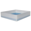 """3-3/4 Gallon Shallow Tray with Straight Edge - 17-1/2""""L x 15-1/2""""W x 4""""H"""