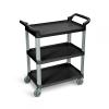 Black Standard Luxor 3 Shelf Serving Cart