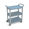 Gray Standard Luxor 3 Shelf Serving Cart