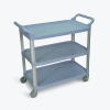 Gray Large Luxor 3 Shelf Serving Cart