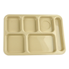 Tan Right Hand 6 Compartment Tray