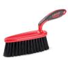 "2.5"" x 7"" Black/Red Libman® Work Bench Dust Brush"