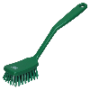 Green Small Utility Hand Brush With Stiff Bristles