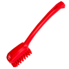 Red Small Utility Hand Brush With Stiff Bristles