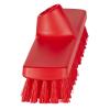"""12"""" ColorCore Red Deck/Wall Stiff Scrub Brush"""