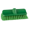 "10"" ColorCore Green High-Low Stiff Deck Brush"