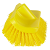 "10"" ColorCore Yellow High-Low Stiff Deck Brush"